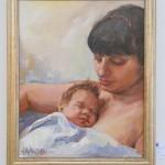 Портрет на Майка с Дете ,Маслени бои,Живопис ,Ангелина Недин 2013