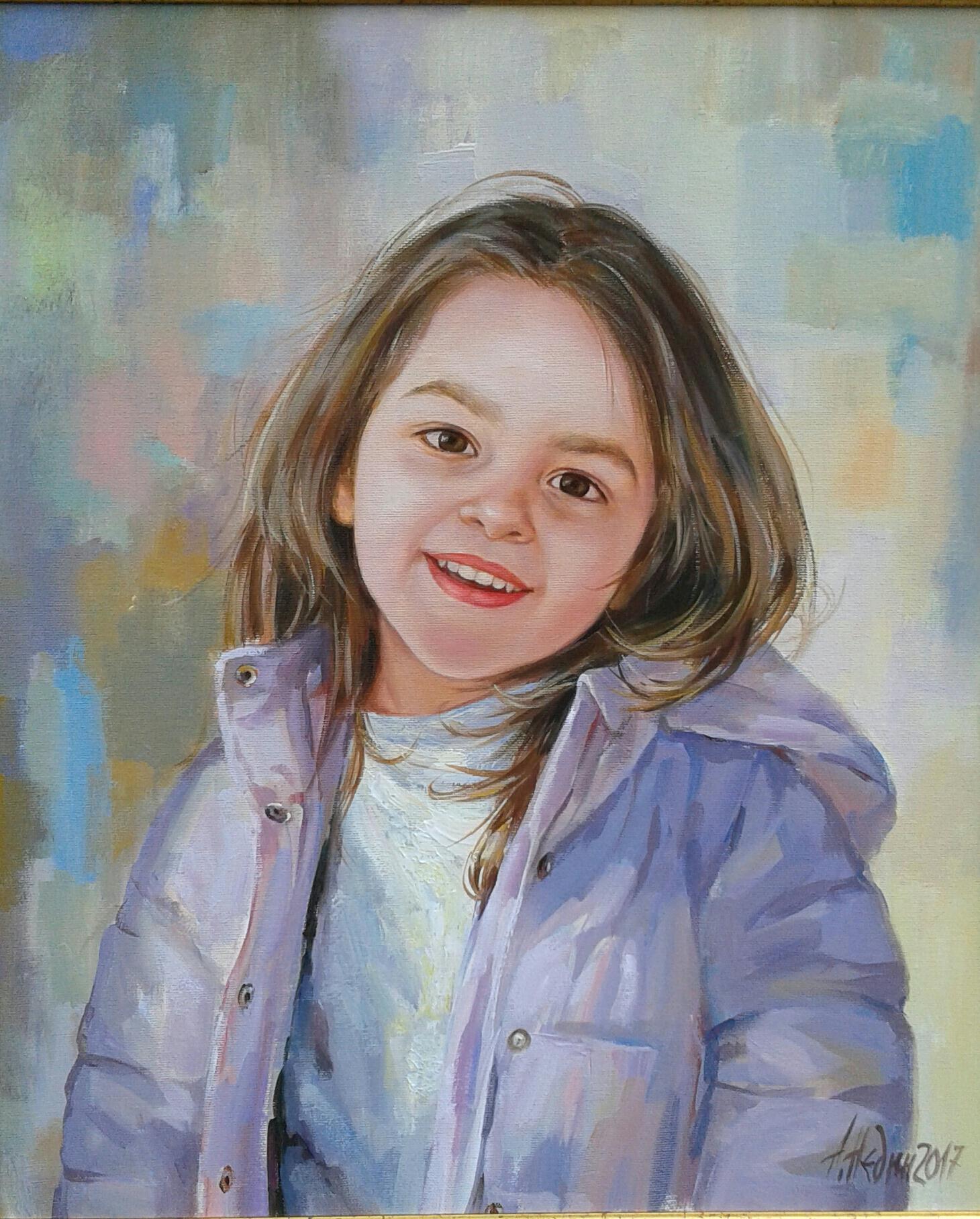 Портрет на дете маслени бои