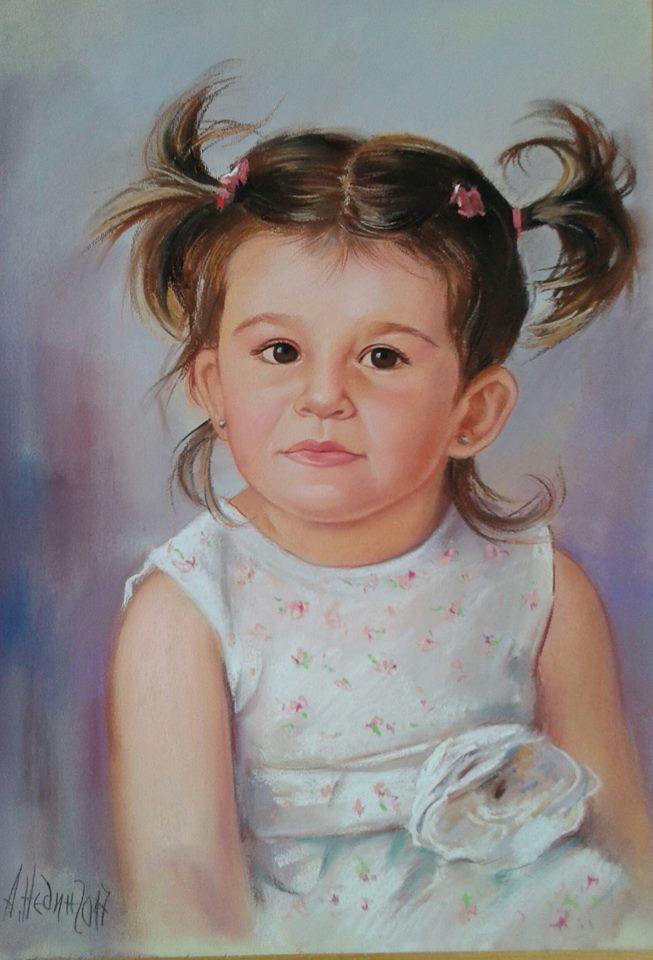 Ангелина Недин-Портрет на дете по снимка
