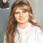 Портрет Цветен Маслени Бои от Черно-Бяла Стара Снимка Ангелина Недин 2016