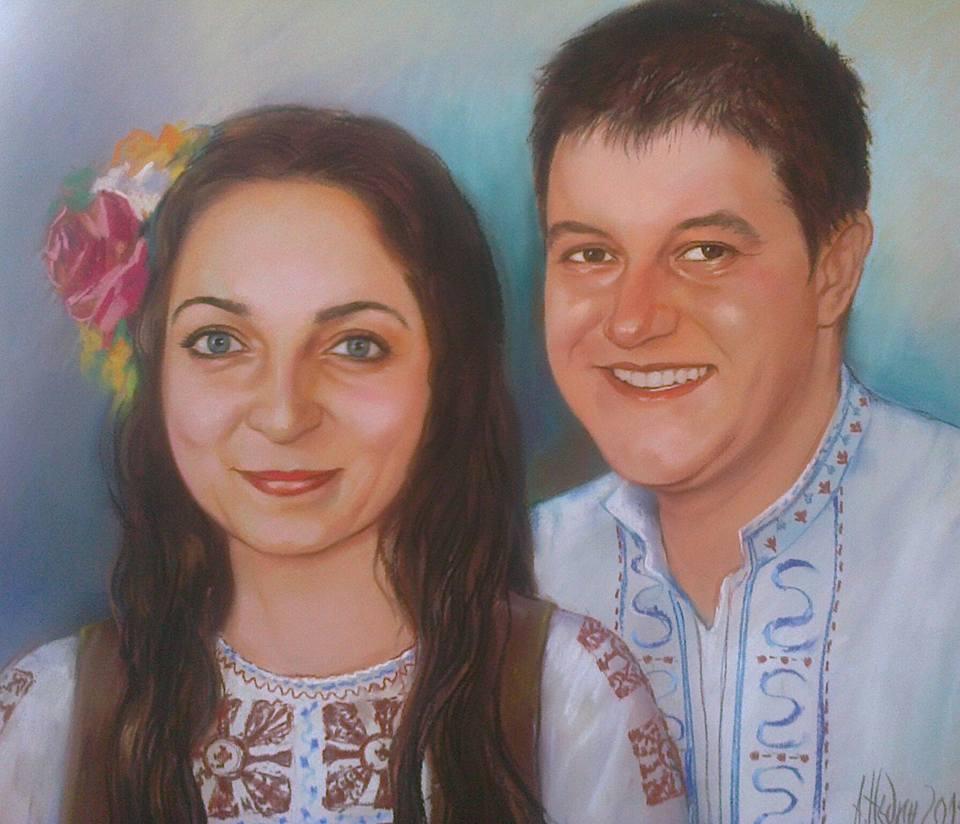 Семеен Портрет по Снимка Сух Пастел Ангелина Недин