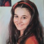 Портрет на Момиче Сух Пастел Ангелина Недин 2016