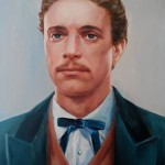 Портрет на Васил Левски Ангелина Недин Сух Пастел