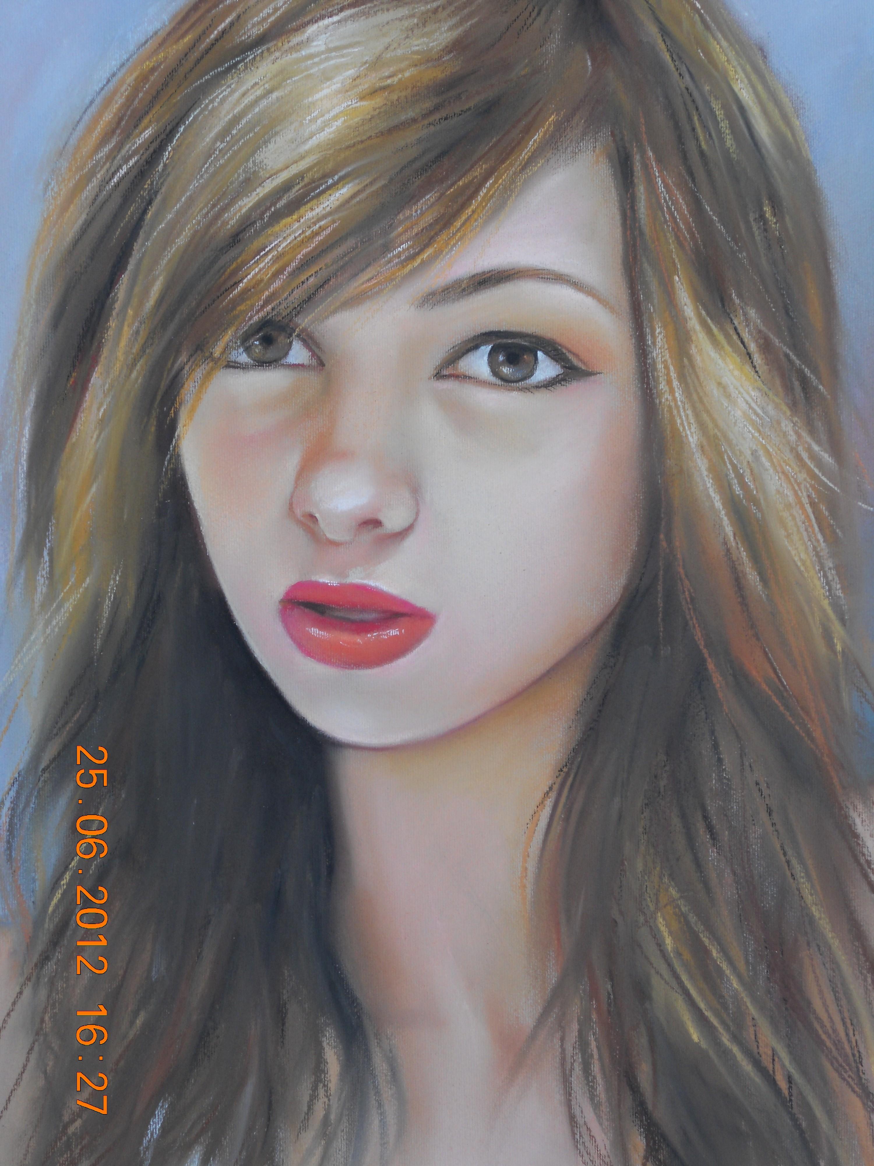 Портрет на Момиче рисуван от Снимка