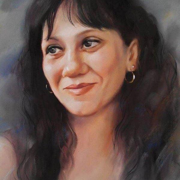 Портрет цветен сух пастел
