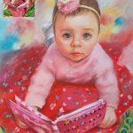 Детски Портрет Рисуван по Снимка със Сух пастел от Ангелина Недин 2020