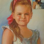 Детски Портрет по Снимка ,Сух Пастел,Ангелина Недин 2016