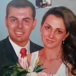 Сватбен Портрет рисуван по снимка ,живопис,маслени бои