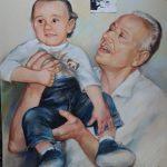 Цветен Портрет по Стара Черно-Бяла снимка-Ангелина Недин