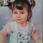 Ангелина Недин-Детски Портрет по Снимка