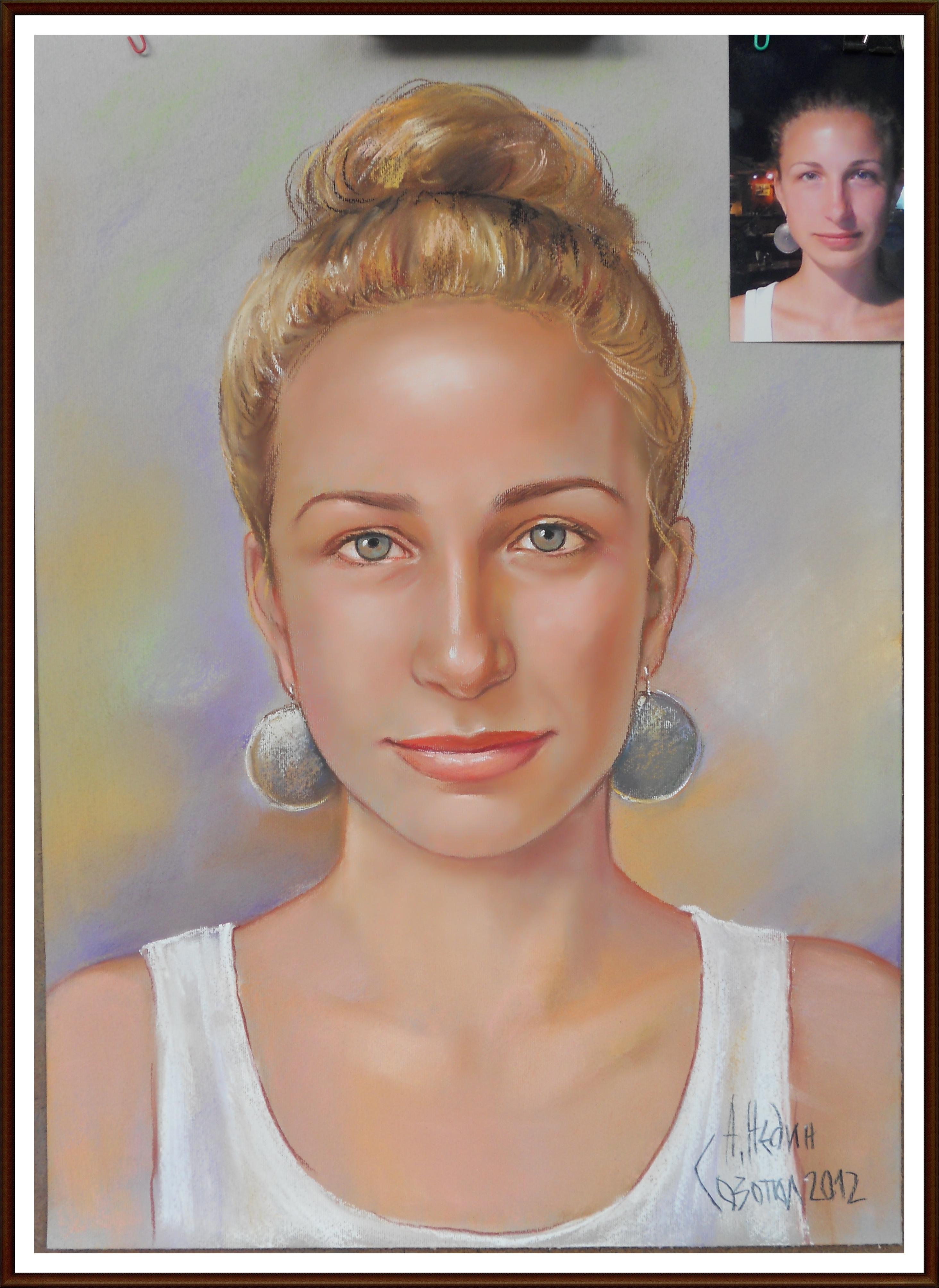 Портрет на Момиче Рисуван от Снимка/сух пастел